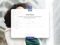 Quick Enquiry Popup Design