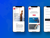 METCO Website Mobile Version - 2019 flatdesign responsiveweb creative uidesigner uiux webdesign interaction qatar www