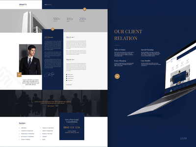 Law Firm - UI Design