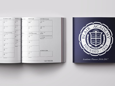 Academic Planner Design ux student academic planner calendar graphic design user testing layout