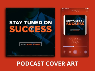 Podcast Cover - Success spotify airbnb soundcloud itunes typography social media design podcast logo podcast cover art podcast branding