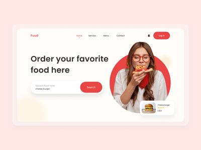Fuud best shot clean clean ui web design ui design trend websites food app food webdesigner web dribble best shot uidesign website uiuxdesign agency web design agency landing page ux uiux ui