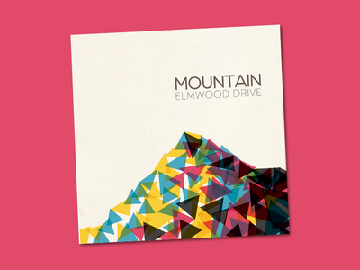 Abstract Mountain CD Cover illustration minimalism cd cover cd album