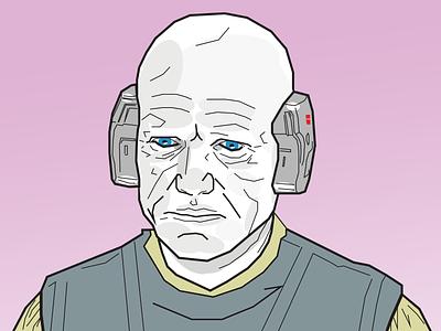 Obscure Star Wars Characters - Lobot illustration star wars lobot