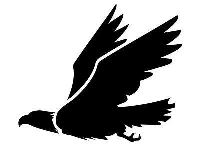 Majestic Eagle sillouette bird logo eagle