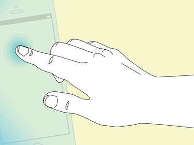 Disembodied Mobile App Hand hand apps touch fingers mobile
