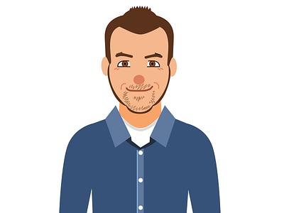 Flat Portrait Study - Dave face illustration avatar flat art people portrait