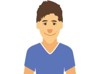 Flat Portrait Study - Ben