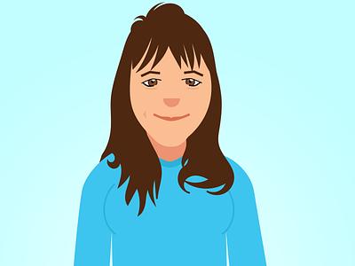 Melissa middle-aged blue woman portrait illustration