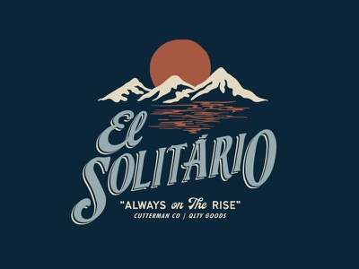 """El Solitário"" Tee Graphic. typography graphic design sticker mountain explore apparel t-shirt design lettering illustration"