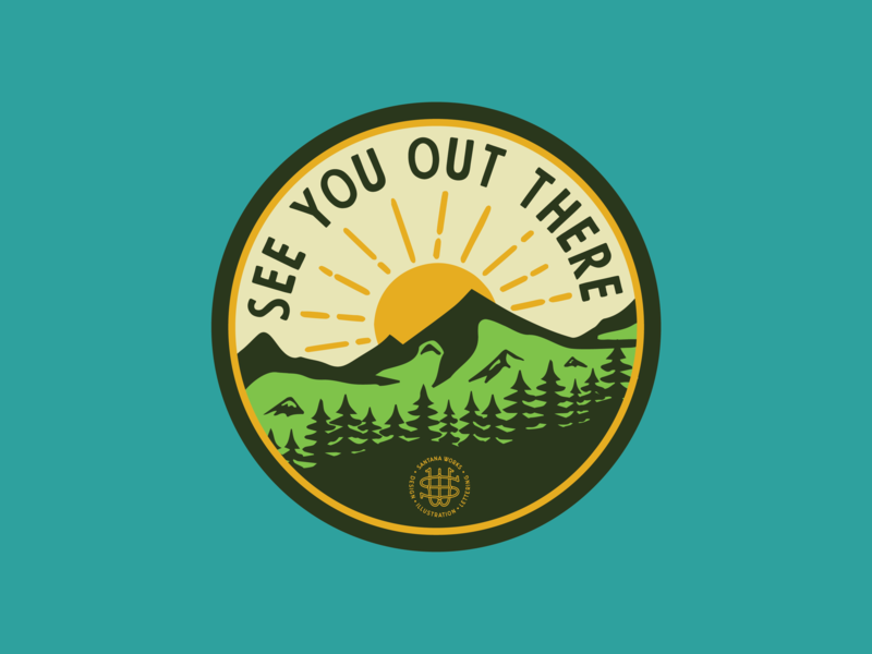 Sticker Mule Coaster – See you. explore sticker patch badge illustration