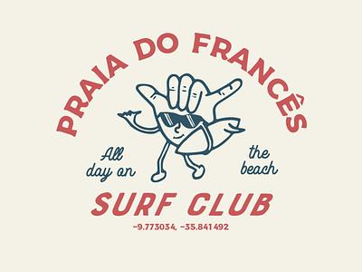 Praia do Francês - AL surf beach apparel design t-shirt illustration