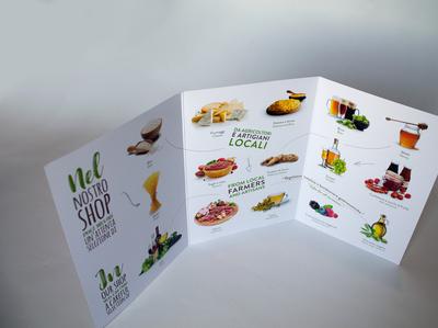 Trifold Brochure design food and drink beverage design flyer brochure layout impaginazione food graphic design graphicdesign trifold trifold brochure