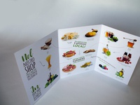 Trifold Brochure design food and drink beverage design flyer brochure layout impaginazione food graphic design graphicdesign trifold trifold brochure