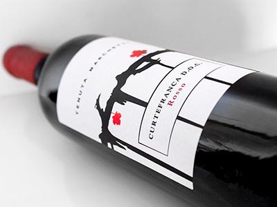 Curtefranca Rosso graphics label design etichetta graphicdesign labeldesign bevande food beverage vino sparkling wine