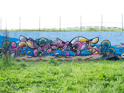 Graffiti Wall spraycanart spray piece color graffitiart streetstyle illustration aerosolart fantasy lettering streetart graffiti