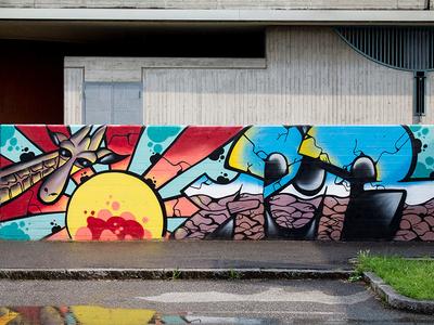 Africa animal art aerosolart africa graffiti