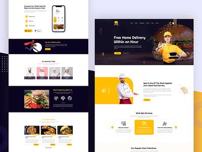 Expice Restaurant Theme restaurant pizza shop ecommerce food app cooking blog chef