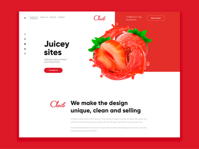 Juicey Site | Landing Page Redesign design ecommerce modern creative uiuxdesign colorful clean design