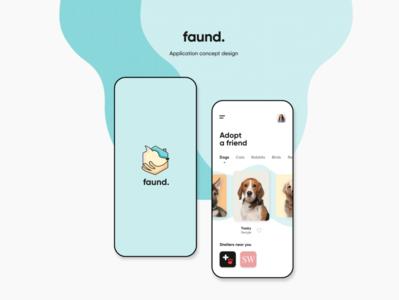 Faund App Design creative modern clean design uiux design app android app apps