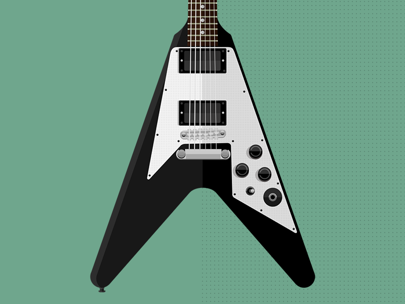 Gibson Flying V Kirk Hammett guitar gibson flat vector photoshop kirk hammett flying v