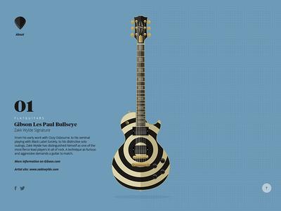 Flatguitars.com is live! flat guitars vector website gibson fender prs