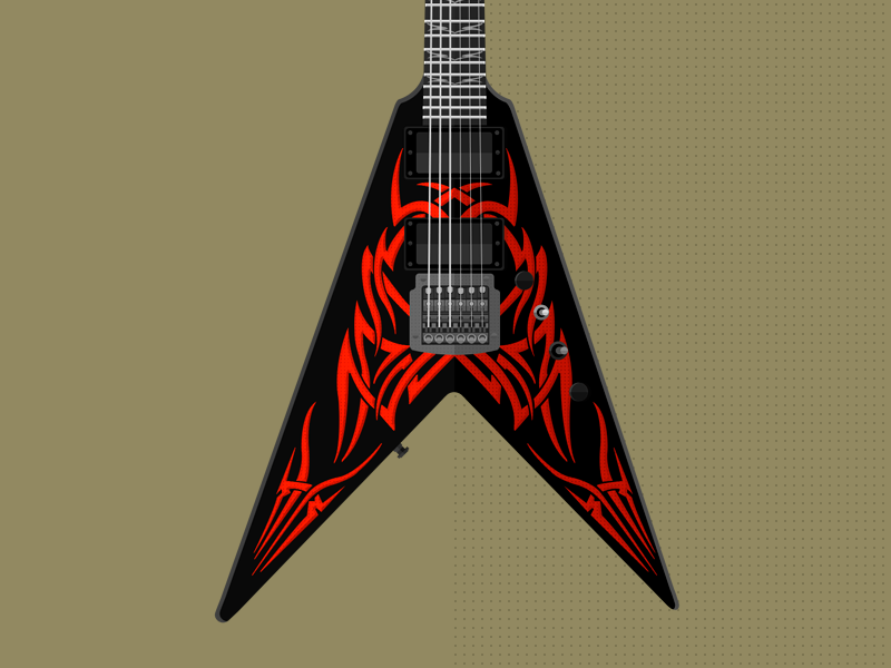 BC Rich Kerry King V Tribe flat guitar bcrich kerry king photoshop vector