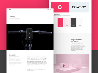 Cowboy Case Study guide 3d logo photography design app ui print casestudy electric bicycle bike