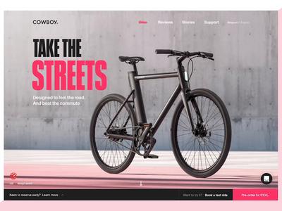 Cowboy 2019 - Homepage web website design web design ux ui interactive user interface bicycle electric bicycle uidesign design branding webdesign webgl