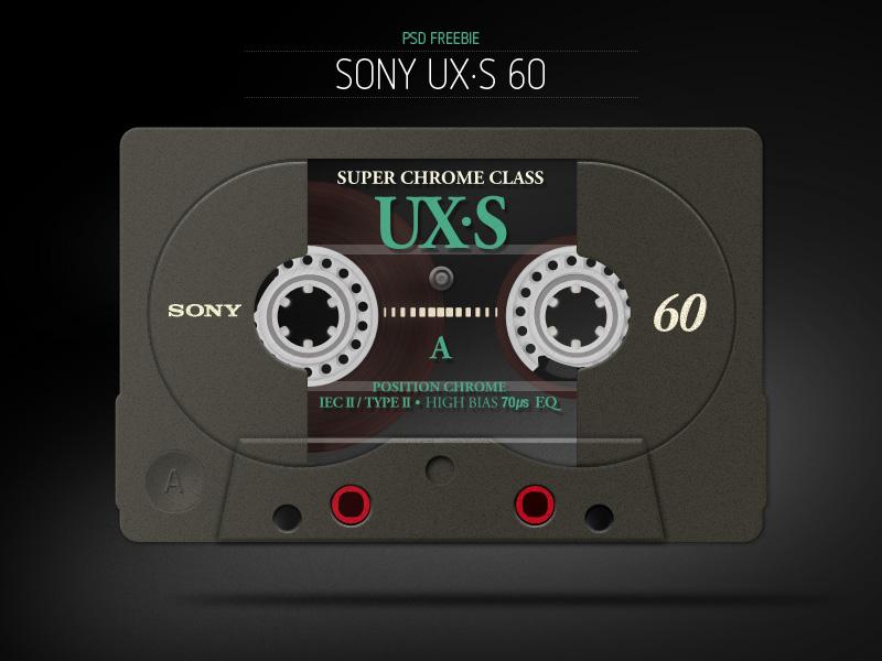 Cassette Tape PSD Freebie cassette tape cassette tape audio psd freebie icon mixtape illustration