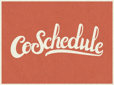 CoSchedule word mark brush script logo typography lettering script brush type handlettering
