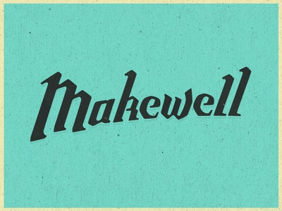 Makewell logo hand lettering logo design typedesign lettering industrial structure typography type desing logo make