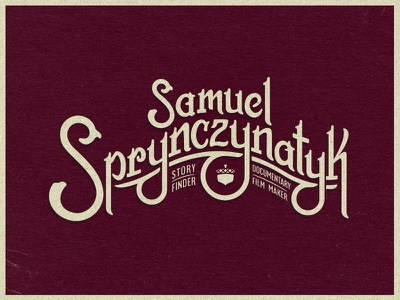 Sam Sprynczynatyk tall tales hand lettering hipster vector acorn music wordmark lettering logo