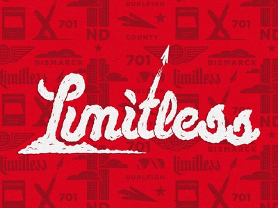 Limitless paper airplane hand lettering ted x pattern limitless typography clouds lettering