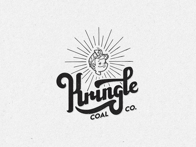 Kringle Coal Co. hand lettering holiday christmas wordmark lettering logo
