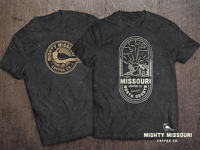 Mighty Mo Merch logo design shirt design coffee missouri shirt crest logo