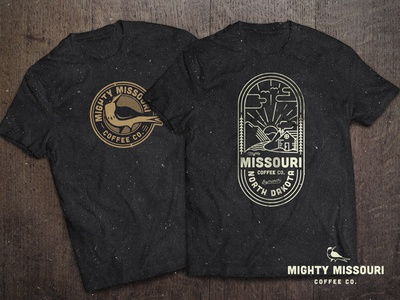 Mighty Mo Merch logo design shirt design coffee missouri shirt crest logo