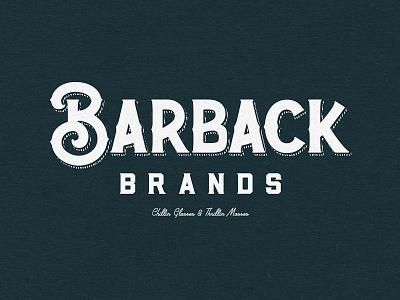 Barback Brands 1 custom lettering hand lettering logo custom branding brand typography lettering