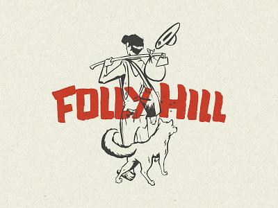 Follyhill retro design retro logo mistake retro logo farmer dog farm