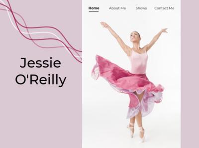 Ballerina Dancer Website design ui