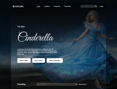 Movies Website figma web ux ui design