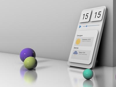 3D-render phone interface render c4d 3d