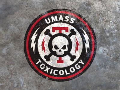 Umass Tox logo update toxic toxicology lightning bolt skull tox umass jason taylor