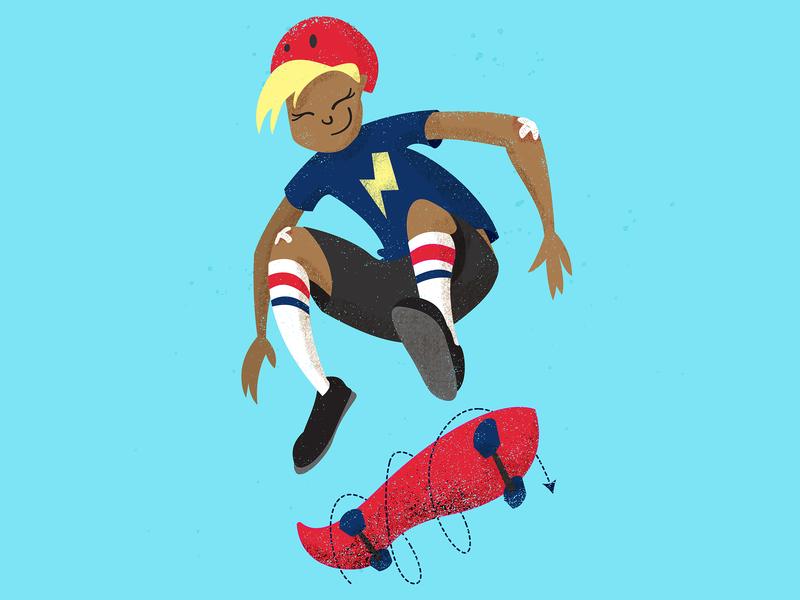 Perseverance happy socks bandaid kickflip perseverance skateboard skate character illustration