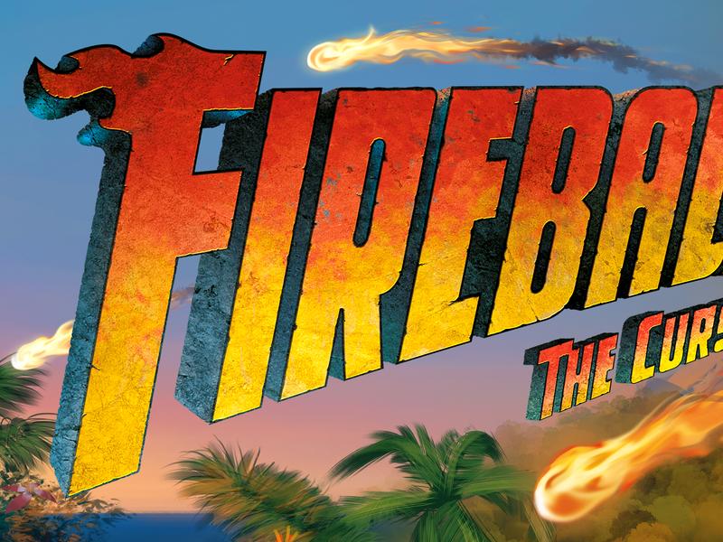 Fireball Island Logo games tropical island fireball fire logo board game