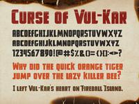 Curse Of Vul Kar Font