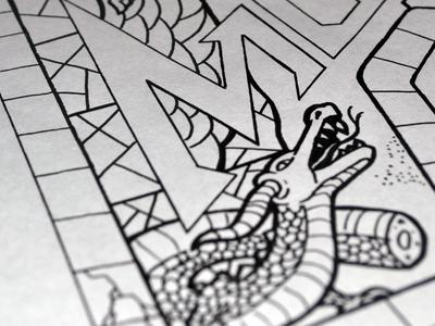 Writhing dragon