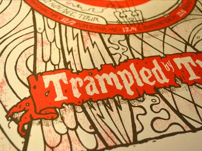 Trampled By Turtles tour poster custom type banjo trampled by turtles gigposter poster tour poster screenprint arrow robin hood target
