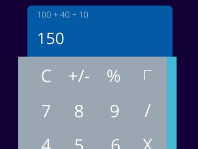 Calculator redesign