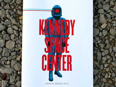 Kennedy Space Center Annual Report annual report design typography space nasa astronaut kennedy